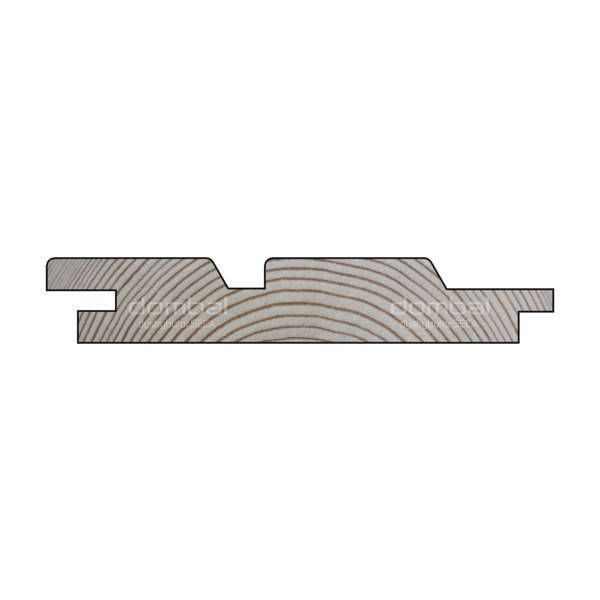 Oryginał Deska elewacyjna Świerk Profil ROMB DUO ○ Dombal YS58